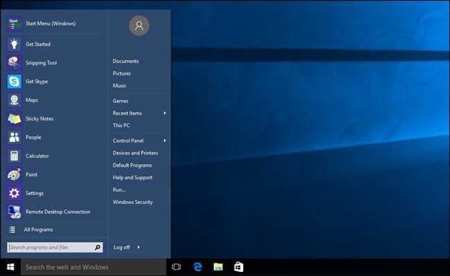 Apportez Le menu Démarrer de Windows 7 vers Windows 10 -3