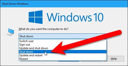 Arrêter un PC Windows sans installer les mises à jour 1