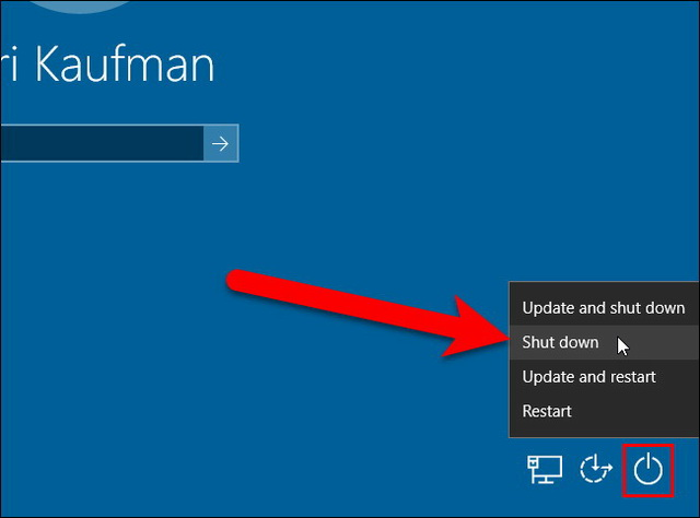 Arrêter un PC Windows sans installer les mises à jour