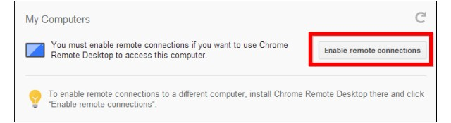 Bureau à distance Chrome