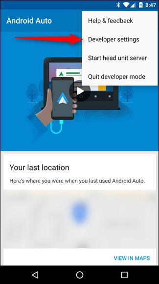Captures d'écran sur Android Auto 2