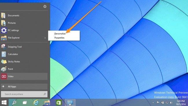 Comment faire le menu Démarrer de Windows 10 333