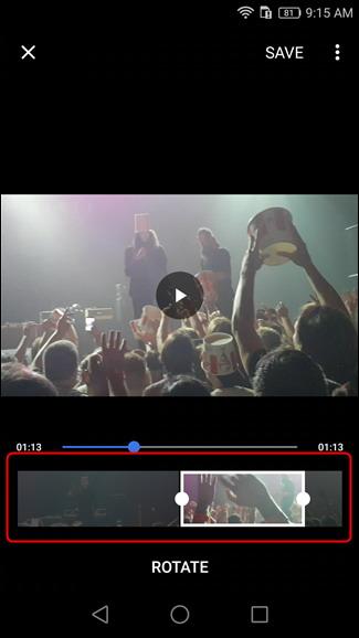 Couper et découper des vidéos Android 2