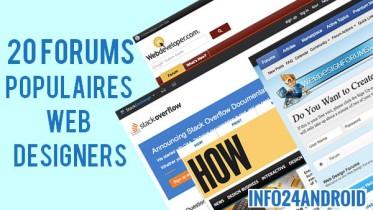 Forums populaires Web Designers