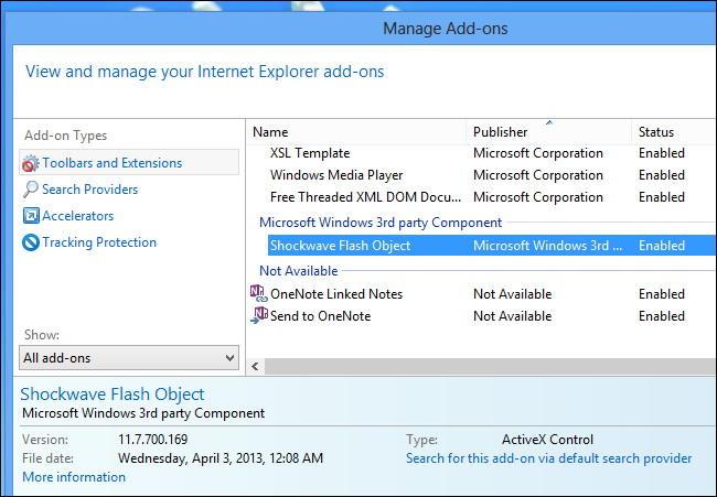 Gestion des contrôles ActiveX
