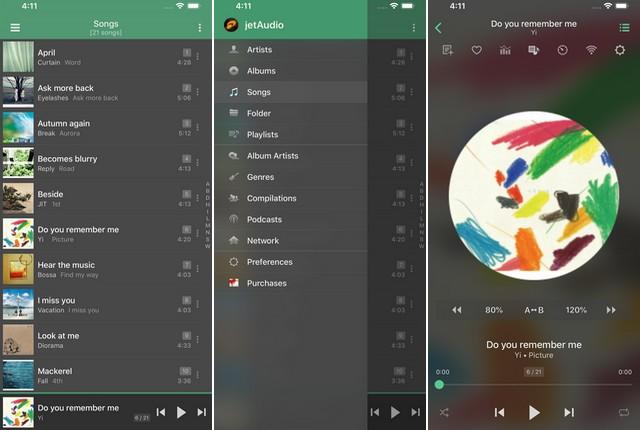 JetAudio - Meilleur lecteur de musique