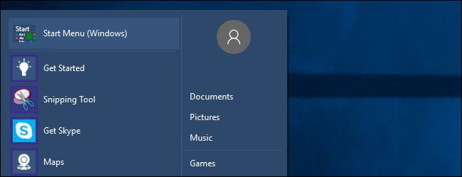 Le menu Démarrer de Windows 7 vers Windows 10