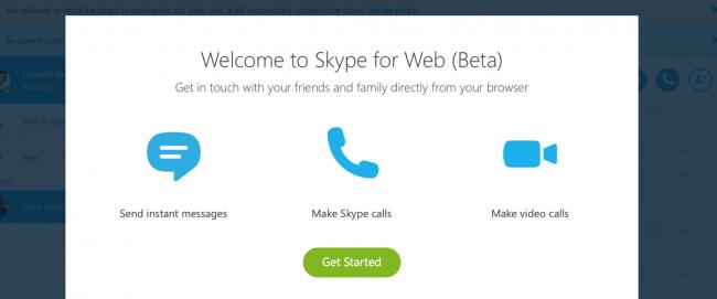 Utilisez Skype pour le Web