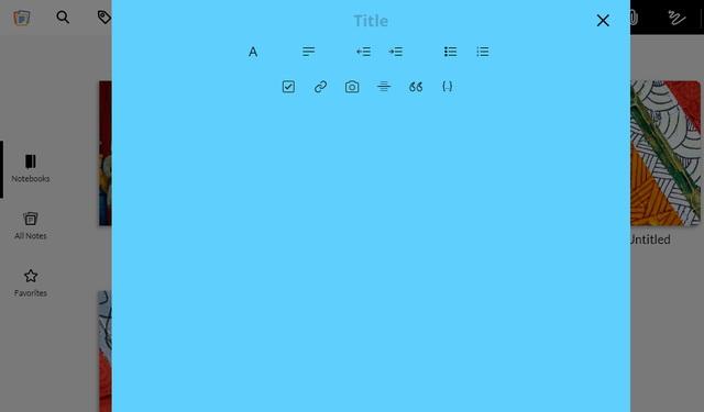 Zoho Notebook - alternative to Evernote