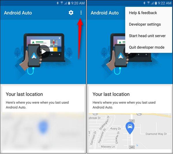 activer les paramètres de développeur sur Android Auto 2