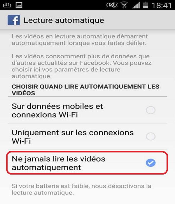 arrêter les vidéos Facebook jouant automatiquement 3