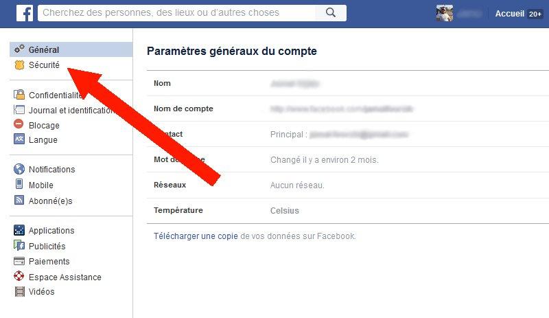 autres périphériques connecté à votre compte Facebook 1