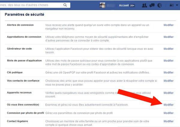 autres périphériques connecté à votre compte Facebook 2