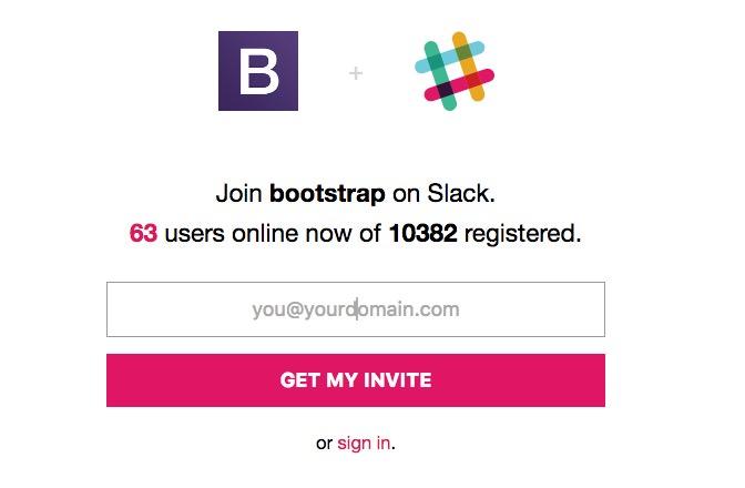 bootstrap-slack