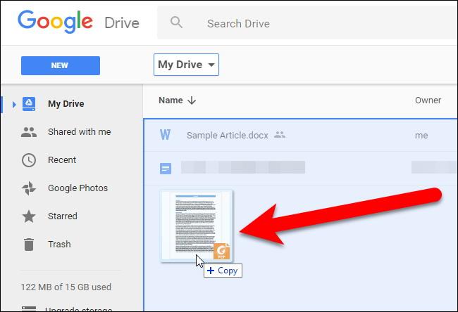 convertir des fichiers PDF et des images dans Google Docs Documents 1