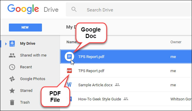 convertir des fichiers PDF et des images dans Google Docs Documents 5