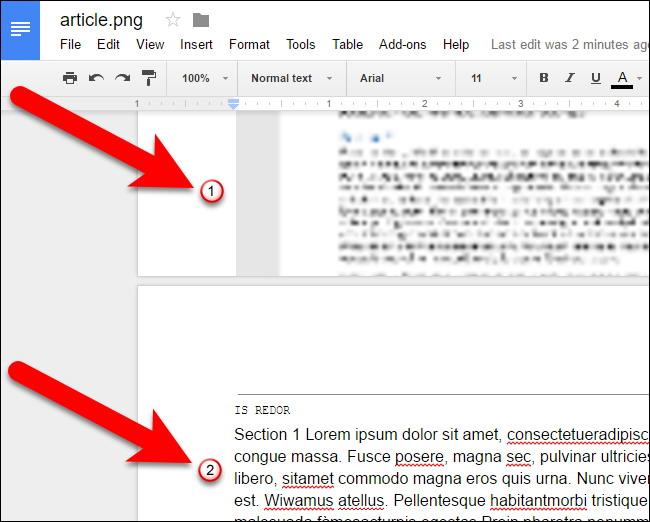 convertir des fichiers PDF et des images dans Google Docs Documents 7