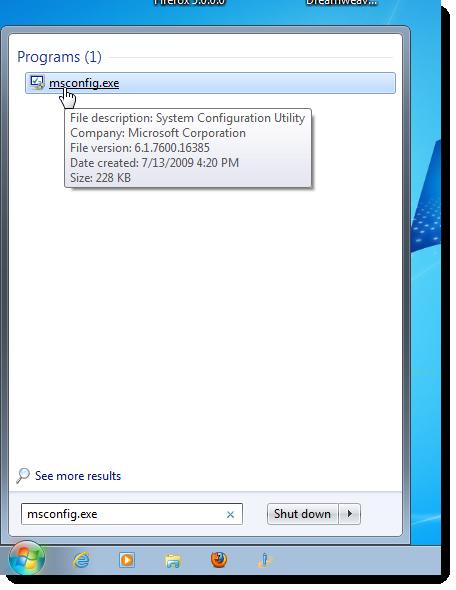 désactiver les programmes de démarrage dans Windows 1