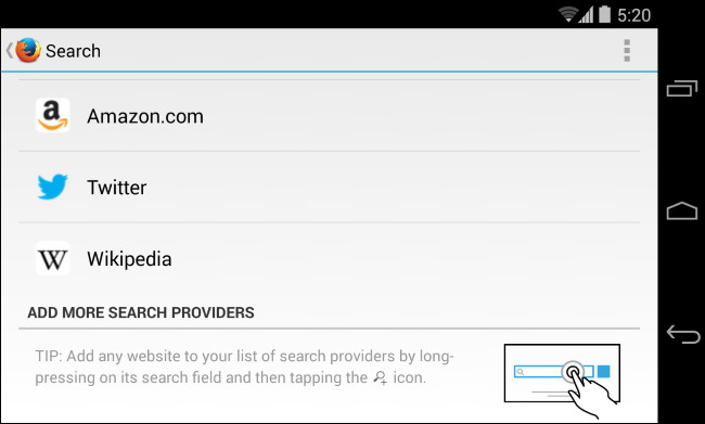 moteur de recherche par défaut sur téléphone ou tablette 2