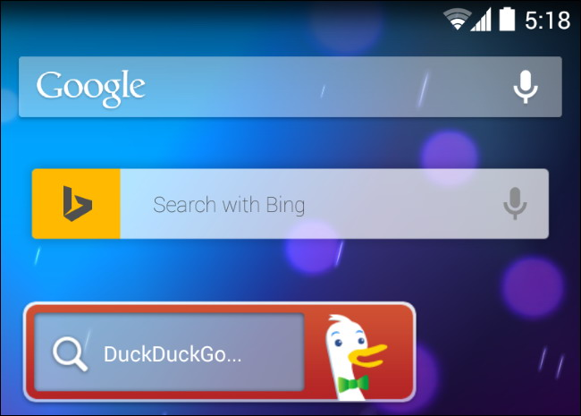 moteur de recherche par défaut sur téléphone ou tablette 3