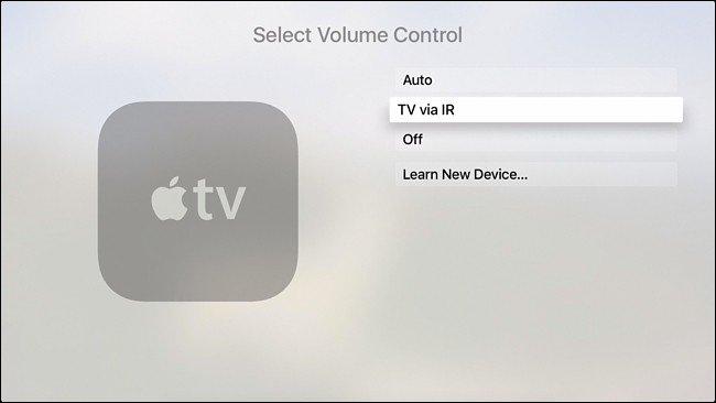 paramètre appelé TV via IR