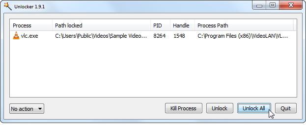 supprimer, déplacer ou renommer les fichiers verrouillés dans Windows 7