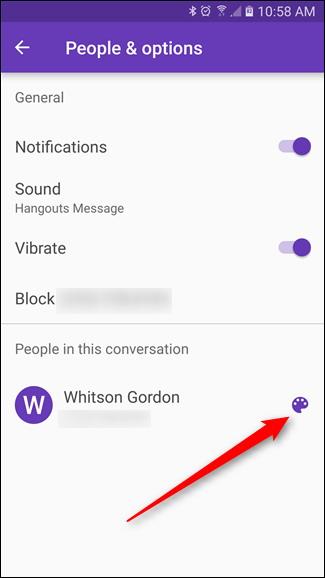 Comment modifier la couleur d'une conversation dans Messenger App Android