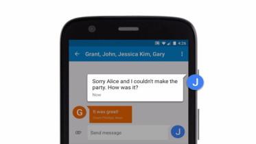 Comment obtenir un message Groupe Réponses Messages comme individuels sur Android
