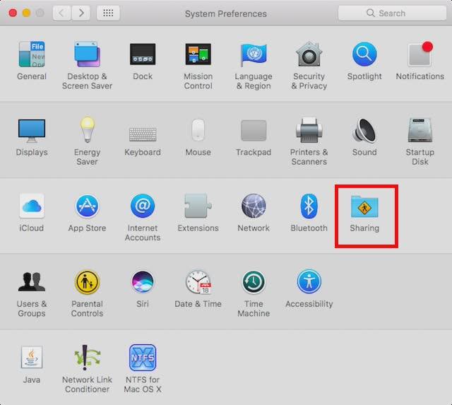 Configurer le partage d'écran
