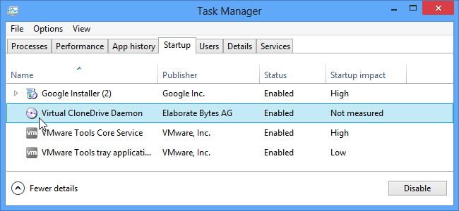 Désactivation de programmes de démarrage dans Windows