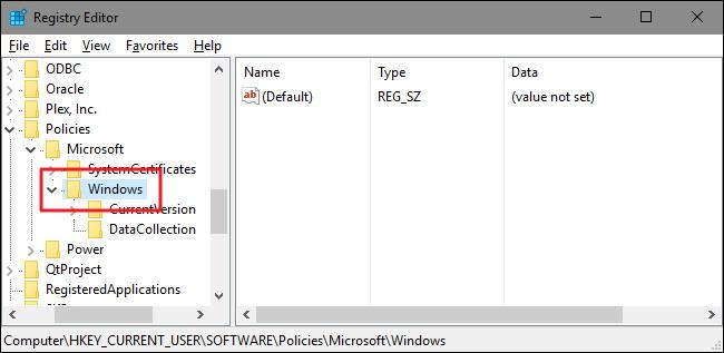 Désinstaller dans le menu de Windows 10