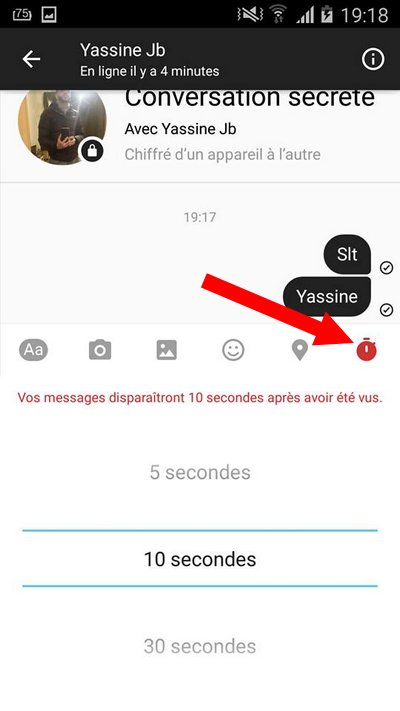 Facebook Messenger Secret Conversations Self Destruct timer