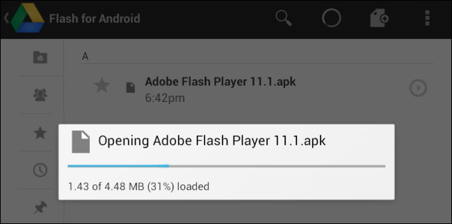 Installez le APK flash 3