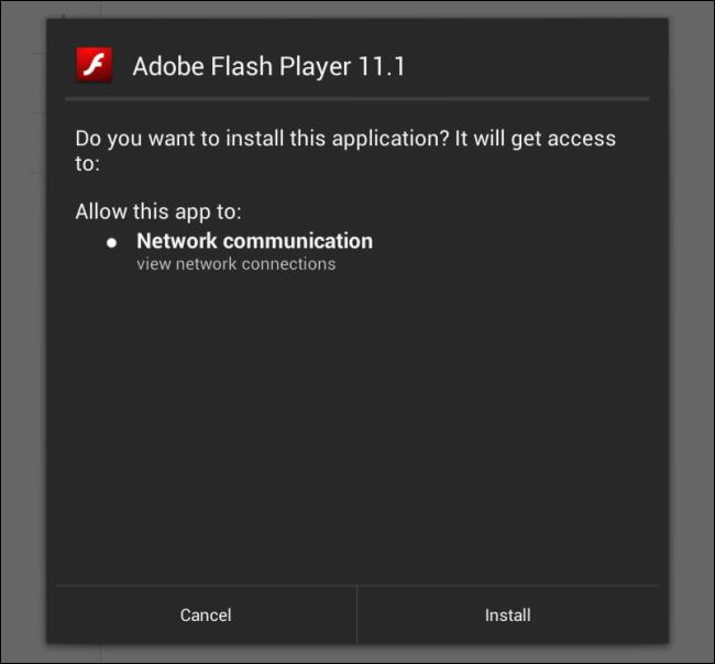 Installez le APK flash 4