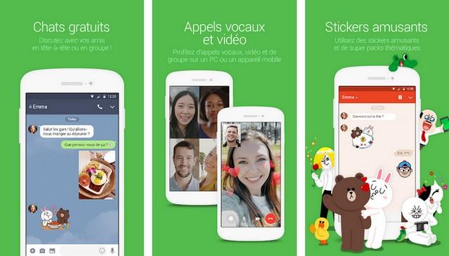 LINE: Appel & message