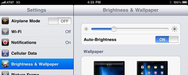 Réduire la luminosité de l'écran
