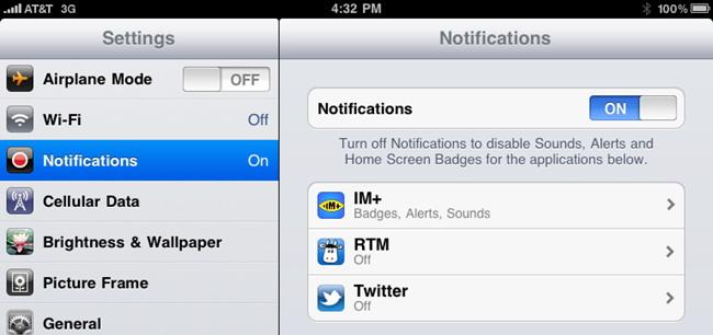 Réduire ou éliminer les notifications Push