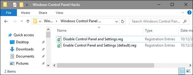 Télécharger Notre One-Click Registry Hack