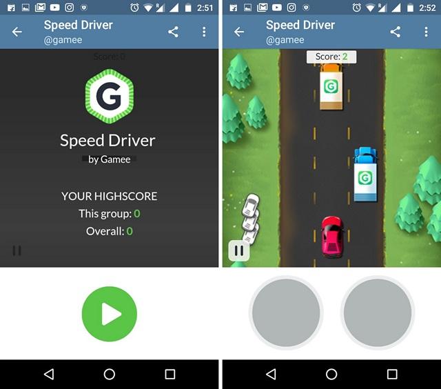 Telegram-Messenger-Speed-Driver-Game