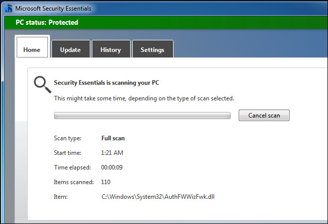 Vérifier Malware