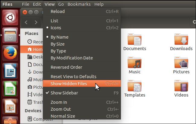 Voir fichiers et dossiers cachés sous Linux