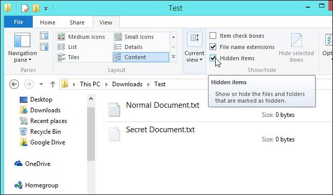 Voir fichiers et dossiers cachés sous Windows