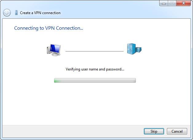 Windows enregistre la connexion VPN