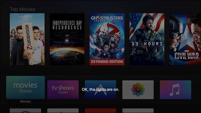 contrôler en utilisant Siri sur l'Apple TV