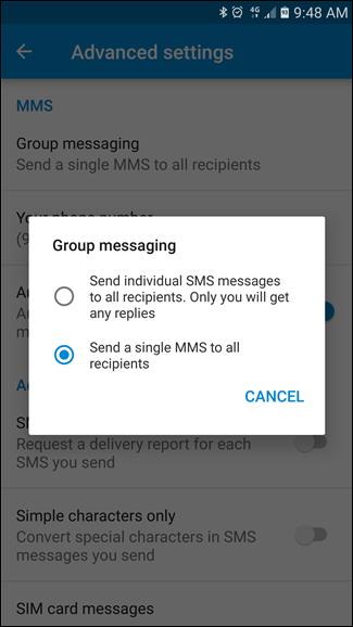 groupe de messagerie
