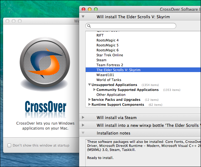 installer des programmes Windows sur Mac avec CrossOver Mac