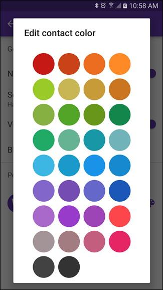 la couleur d'une conversation dans Messenger App Android
