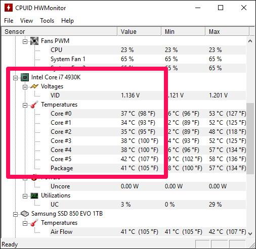 la température de votre CPU