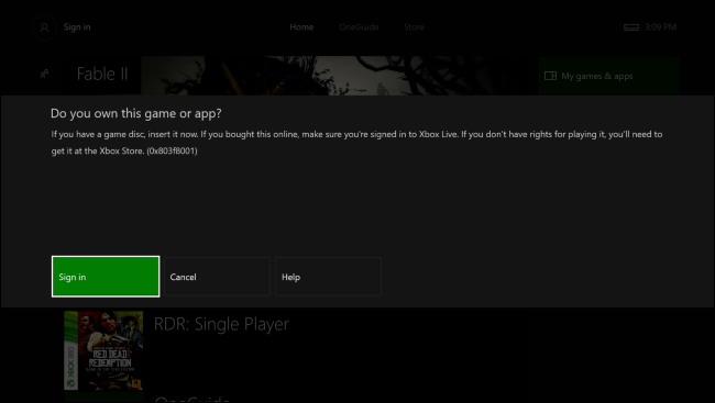 lecteur interne de la Xbox One et non le disque