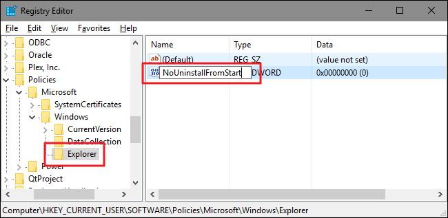 option Désinstaller dans le menu de Windows 10